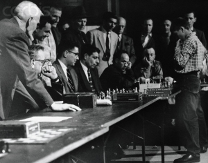 Young Bobby Fischer Playing Multiple Chess Games